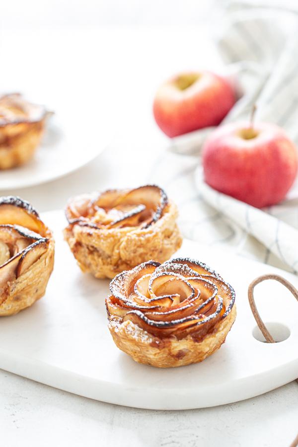 Tartelette Pomme Rose avec pâte feuilletée