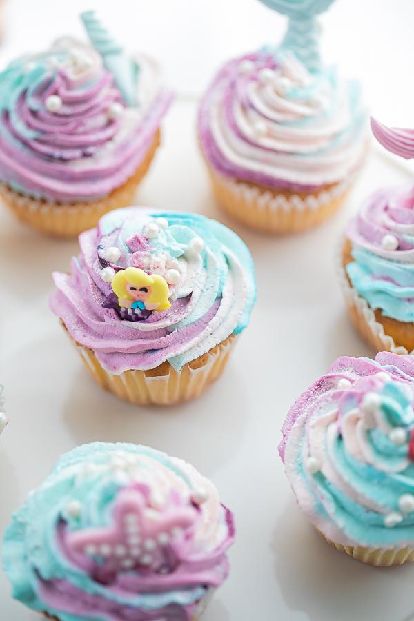 Thème sirène cupcake sirène